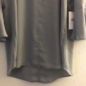 b39e07e09af Chaus Tops - NWT Grey Hi-Low Flutter Sleeve V Neck Blouse